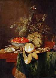 de Heem | Still Life with Peeled Lemon, 1650 | Giclée Canvas Print