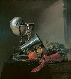 de Heem | Still Life with Nautilus Cup and Lobster, 1634 | Giclée Canvas Print