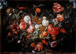 de Heem | Still Life with Garland of Fruit and Flowers, c.1669 | Giclée Canvas Print