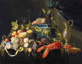 de Heem | Still Life with Fruit and Lobster, c.1648/49 | Giclée Canvas Print