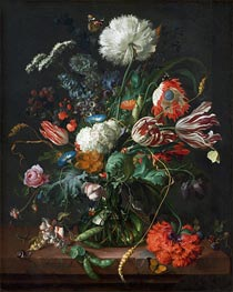 de Heem | Vase of Flowers, c.1660 | Giclée Canvas Print