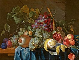 de Heem | Still Life with Grape and Lemon, 1654 | Giclée Canvas Print