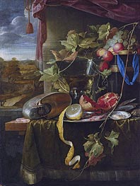 de Heem | Still Life with Shell, Peeled Lemon and Pomegranate, undated | Giclée Canvas Print