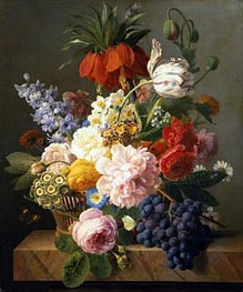 van Dael | Still Life with Flowers and Fruit, 1827 | Giclée Canvas Print