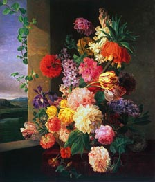 van Dael | Flowers Before a Window, 1789 | Giclée Canvas Print
