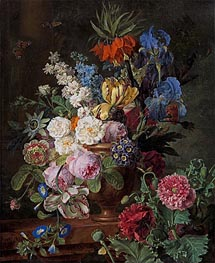 van Dael | Flowers in Urn on a Stone Ledge, c.1794/95 | Giclée Canvas Print
