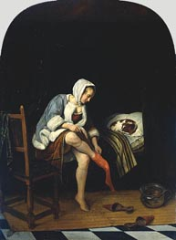 Jan Steen | Woman at her Toilet, c.1661/65 | Giclée Canvas Print