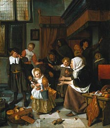 Jan Steen | The Feast of Saint Nicholas, c.1663/65 | Giclée Canvas Print