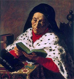 Jan Lievens | Old Woman Reading, undated | Giclée Canvas Print