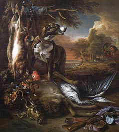 Jan Weenix | A Deerhound with Dead Game and Implements of the Chase | Giclée Canvas Print
