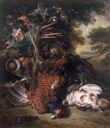 Jan Weenix | Hunting Still Life with Dead Birds | Giclée Canvas Print