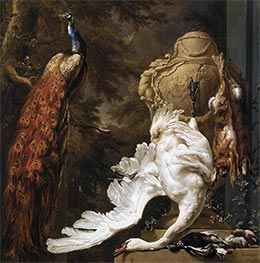 Jan Weenix | Peacock and Hunting Trophies | Giclée Canvas Print