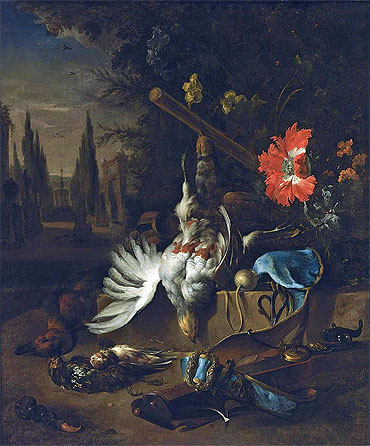 A Hunting Still Life with Partridges, undated | Jan Weenix | Giclée Canvas Print