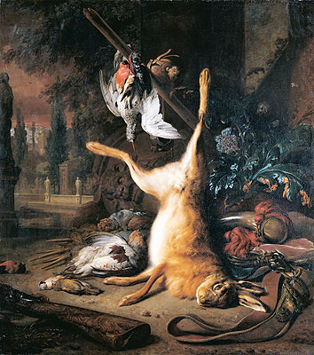 Dead Hare and Birds, 1687 | Jan Weenix | Giclée Canvas Print