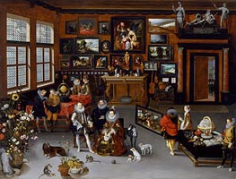 Jan Bruegel the Elder | The Archdukes Albert and Isabella Visiting a Collector's Cabinet, c.1621/23 | Giclée Canvas Print