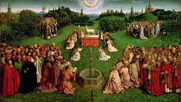 Jan van Eyck | The Adoration of the Mystic Lamb (The Ghent Altarpiece), 1432 | Giclée Canvas Print