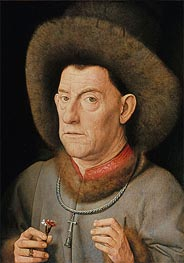Jan van Eyck | Man with Pinks | Giclée Canvas Print