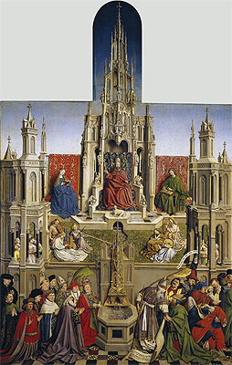 Jan van Eyck | The Fountain of Grace and the Triumph of the Church over the Synagogue, 1430 | Giclée Canvas Print