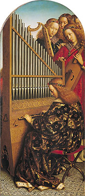 Angels Playing Music (The Ghent Altarpiece), 1432 | Jan van Eyck | Painting Reproduction