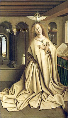 Jan van Eyck | Virgin Annunciate (The Ghent Altarpiece), 1432 | Giclée Canvas Print