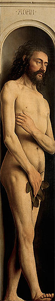 Adam (The Ghent Altarpiece), 1432 | Jan van Eyck | Giclée Canvas Print