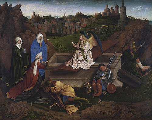 The Three Marys at the Tomb, c.1425/35 | Jan van Eyck | Giclée Canvas Print