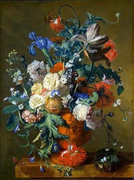 Jan van Huysum | Flowers in an Urn, c.1720 | Giclée Canvas Print