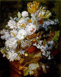 Jan van Huysum | Still Life with Flowers, undated | Giclée Canvas Print