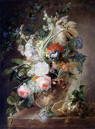 Jan van Huysum | Vase with Flowers, undated | Giclée Canvas Print