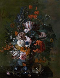 Jan van Huysum | Bouquet of Flowers, b.1716 | Giclée Canvas Print