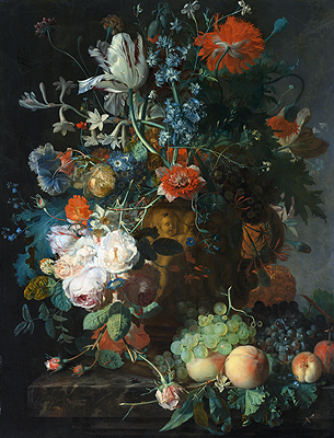 Still Life with Flowers and Fruit, undated | Jan van Huysum | Painting Reproduction