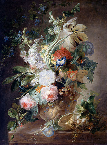 Vase with Flowers, undated | Jan van Huysum | Giclée Canvas Print