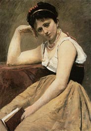 Corot | Interrupted Reading | Giclée Canvas Print