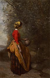 Corot | Peasant Girl at the Spring | Giclée Canvas Print