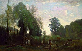 Corot | Misty Morning | Giclée Canvas Print