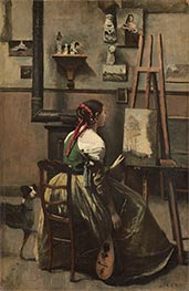 Corot | The Artist's Studio | Giclée Canvas Print