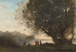 Corot | Dance under the Trees at the Edge of the Lake | Giclée Canvas Print