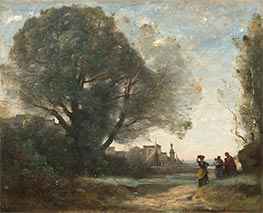 Corot | Souvenir of Terracina | Giclée Canvas Print