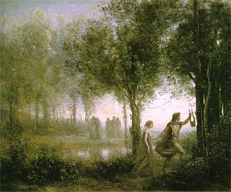 Orpheus Leading Eurydice from the Underworld, 1861   Corot   Painting Reproduction