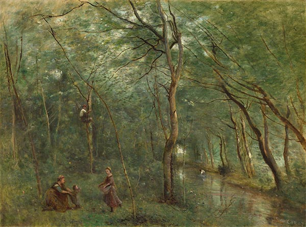 The Eel Gatherers, c.1860/65 | Corot | Painting Reproduction