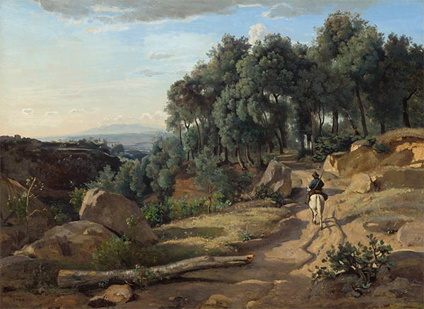 A View near Volterra, 1838 | Corot | Giclée Canvas Print