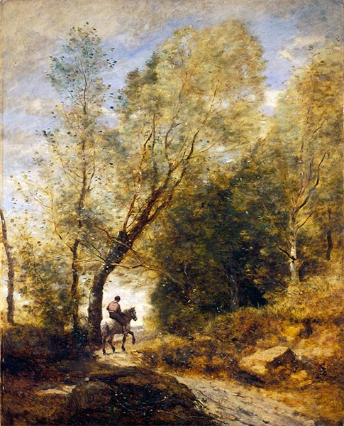 The Forest of Coubron, 1872 | Corot | Giclée Canvas Print