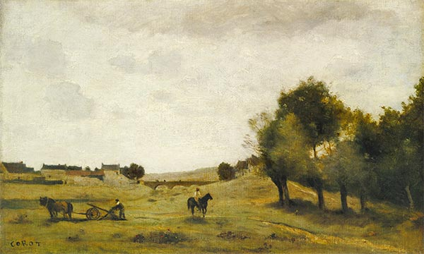 View near Epernon, c.1850/60 | Corot | Painting Reproduction