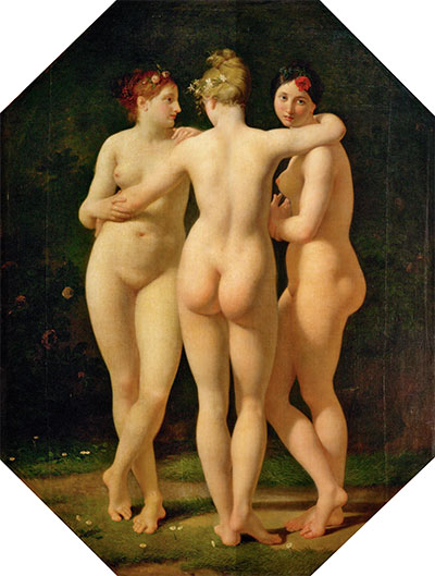 The Three Graces, 1793 | Baron Jean Baptiste Regnault | Giclée Canvas Print