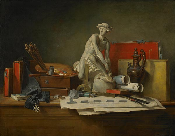 Chardin | The Attributes of the Arts and the Rewards Which Are Accorded Them, 1766 | Giclée Canvas Print
