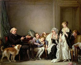 Jean-Baptiste Greuze | The Widow and Her Priest, undated | Giclée Canvas Print