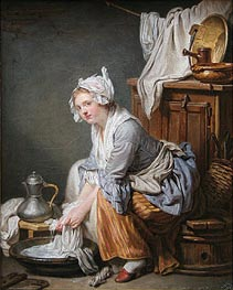 Jean-Baptiste Greuze | The Laundress | Giclée Canvas Print
