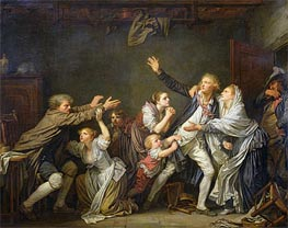 Jean-Baptiste Greuze | The Paternal Curse or The Ungrateful Son | Giclée Canvas Print