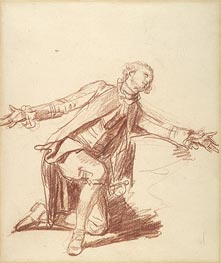 Jean-Baptiste Greuze | A Kneeling Youth with Outstreched Hand, undated | Giclée Paper Print