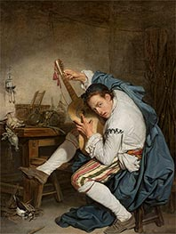 Jean-Baptiste Greuze | The Guitarist, c.1760 | Giclée Canvas Print
